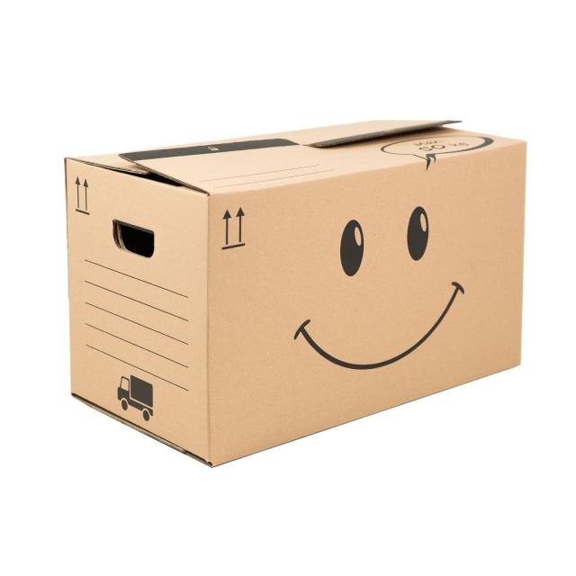 Krabice na stěhování Smajlík malá 498x300x359, 50 Kg