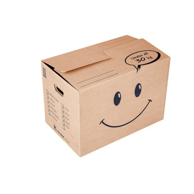 Krabice na stěhování Smajlík střední 535x335x365, 30 Kg