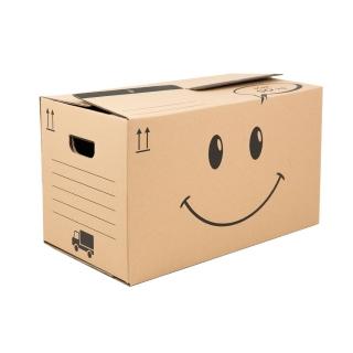 Krabice na stěhování Smajlík střední 595x330x350, 50 Kg